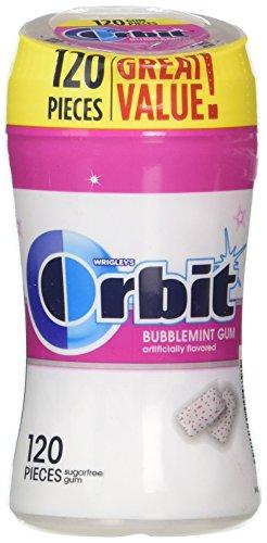 ORBIT White Bubblemint Sugar Free Chewing Gum, 120 piece bottle