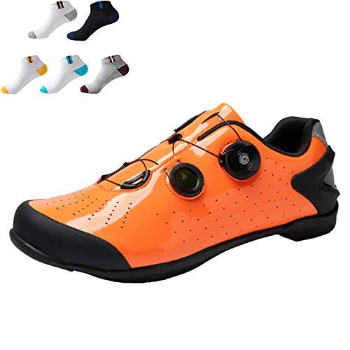 Zapatillas De Ciclismo De Moda Sin Bloqueo Non-Slip Bike Shoes Para Hombres...
