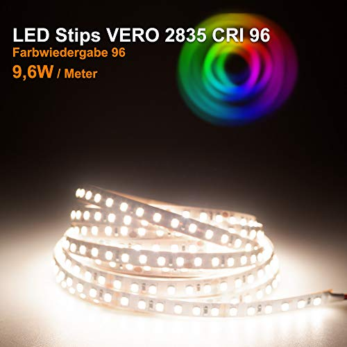 LED Streifen VERO Mextronic LED Streifen LED Band LED Strip VERO Neutralweiß (4000k) CRI 96 48W 5 Meter 24V IP20