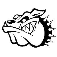 防水 15.9センチメートル* 11.7センチメートル邪悪な犬アニマルカースタイリングビニールステッカーブラック/シルバーS3-6220 (Color Name : Black)