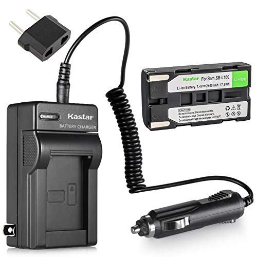 Kastar Battery and Charger for Samsung SB-L160 SB-L320 and Samsung SCL700 SCL710 SCL750 SCL770 SCL810 SCL860 SCL870 SCL901 SCL903 SCL906 SCL907 MiniDV Camcorder