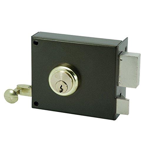 Ilargi - Cerradura 125a 10cm.he.izq.bp de sobreponer c/cilindro. palanca y llave por ambos lados. picaporte con llave 125a-he08ip