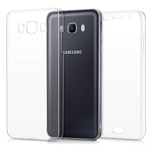 TBOC Funda para Samsung Galaxy J7 (2016) J710 (5.5') - Carcasa [Transparente] Completa [Silicona TPU] Doble Cara [360 Grados] Protección Integral Total Delantera Trasera Lateral Móvil Resistente Golpe