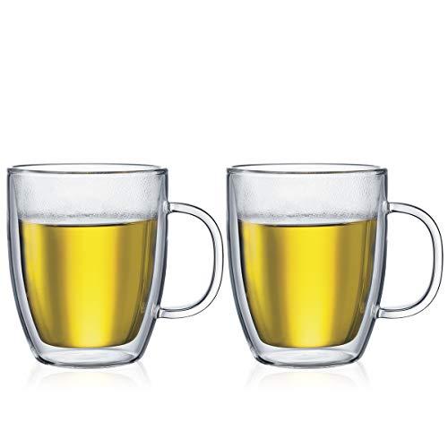 Bodum 10606-10, Bistro, Set 2 Mug Jumbo con manico, doppia parete, 48 cl