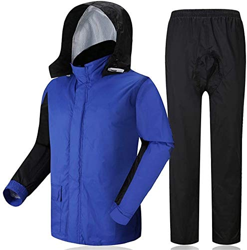 YUESFZ Rain Suit Outdoor Sports Raincoats Motorcycle Rain Jacket Hiking Rainwear Breathable Cycling Rain Suits for Driving Fishing Jogging Rainy Days Rowing Unisex Waterproof Jacket
