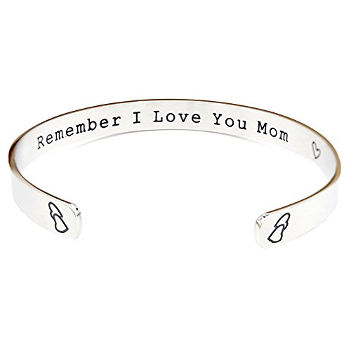 O.RIYA Remember I Love You Mom Gifts for Mom from Daughter Forever and Always (Grey)