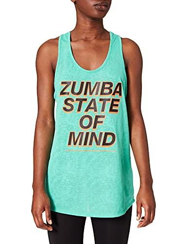 Zumba Aktiv Burnout Dance Workout Kleidung Damen Fitness-Tanktop mit Grafikdruck Tanktops, State of Blue, XXL