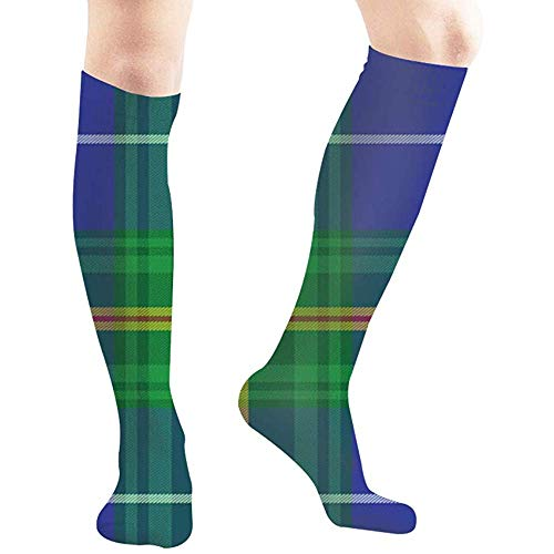 zzzswbl Calf Sock Nova Scotia Tartan Element Konstruktion Abstrakt Vintage Walking Compression Socks Hohe Stiefel 50Cm Strümpfe Yoga Long Hose Women Man