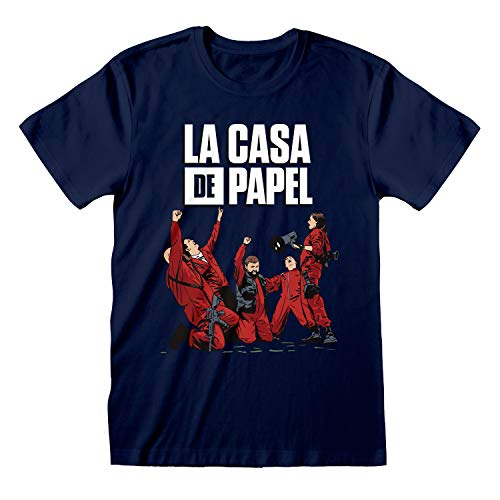 La Casa De Papel Money Heist Celebrating Camiseta para Hombre| mercancía Oficial
