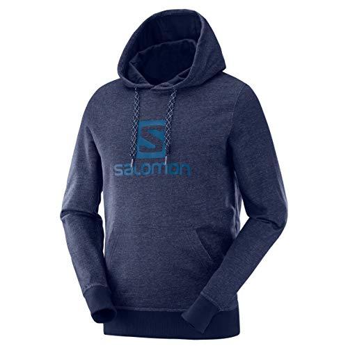 Salomon Herren Sweatshirt, LOGO HOODIE M, Baumwolle/Elasthan, blau (Night Sky), Größe: L, LC1053100