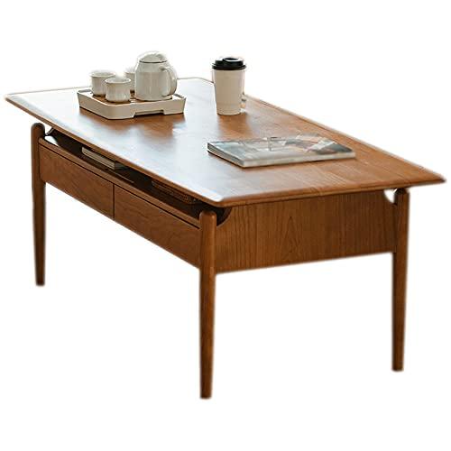 Mesa De Centro De Doble Propósito Mesa De Comedor con Cajones Multifuncional Sala De Estar Simple Mesa De Té para El Hogar Mesa Central