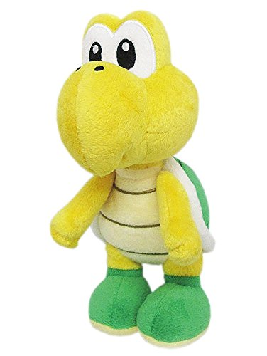 Little Buddy Super Mario All Star Collection 1425 Koopa Troopa Stuffed Plush, 7',Multi-Colored