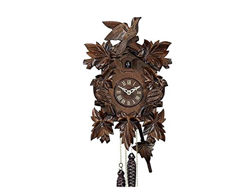RELOJESDECO Alemán Reloj de Cuco 20cm pajaros Madera Noble Precioso.