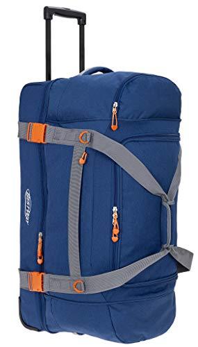 Reisetasche Trolley Bestway 78 cm XXL Reisetrolley groß mit Rollen 40267 + Koffergurt (Blau (0600))