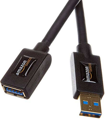 Amazon Basics USB 3.0 Extension Cable - A-Male to A-Female Adapter Cord- 9.8 Feet (3.0 Meters)