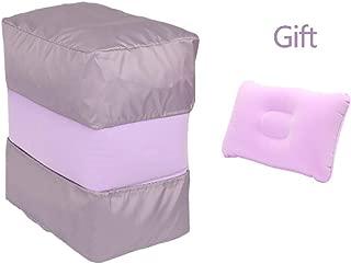 Zichen U-Shaped Pillow Travel Pillow Inflatable Travel Foot Leg Rest Pillow for Air, Children Airplane Travel Leg Rest Pillow,Iovely (Color : Pink) (Color : Purple)