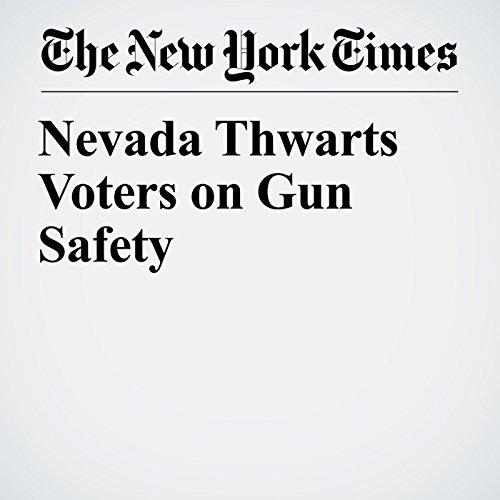 Nevada Thwarts Voters on Gun Safety copertina