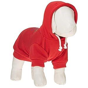 Mirage Pet Products Mardi Gras Rhine Stud Hoodies, Red, Medium/Size 12