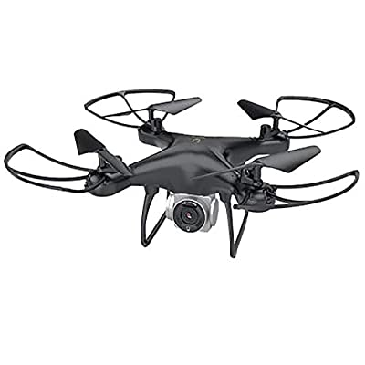 Drone with Camera - Wide-Angle Live Video RC Quadcopter with HD Camera Live Video, Altitude Hold, Gravity Sensor Function, RTF One Key Take Off/Landing - Christmas Birthday Gifts for Kids Adults