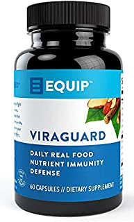 Equip ViraGuard Capsules | Daily Real Food Nutrient Immunity Defense | Anti-Oxidant Support with Vitamin A, C, D & Zinc | ...