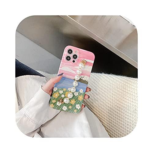 Funda para iPhone 12, pintura al óleo flores frescas para iPhone 11 Pro Max 12 Mini 7 8 Plus SE 2020 XR XS Max x Soft -WY669-For-iPhone SE 2020