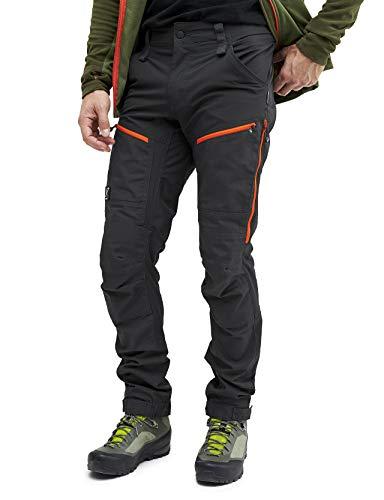 RevolutionRace Herren GPX Pro Pants, Hose zum Wandern und für viele Outdoor-Aktivitäten, Grey/Orange, S