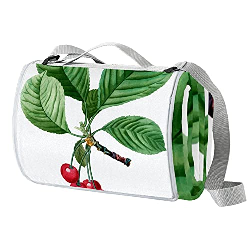 Anmarco Cherry Tree - Manta impermeable para pícnic al aire libre, práctica esterilla de picnic para playa, camping, senderismo, plegable