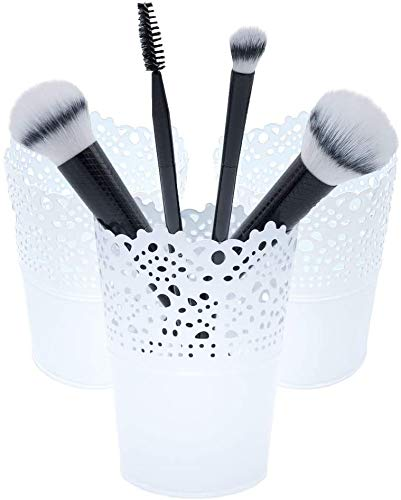 3 Makeup Organizer, Kosmetik Organizer zum Aufbewahren von Schminkpinsel, Lippenstift, Haarbürsten,...