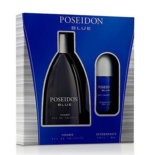Instituto Español Pack Perfume Hombre - Poseidon Blue - EDT 150 ml y Desodorante