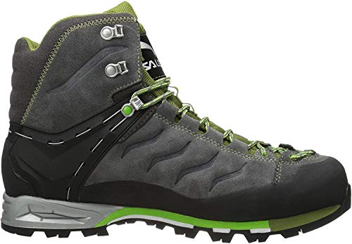 Salewa Herren MS Mountain Trainer Mid Gore-TEX Trekking-& Wanderstiefel, Pewter/Emerald, 46.5 EU