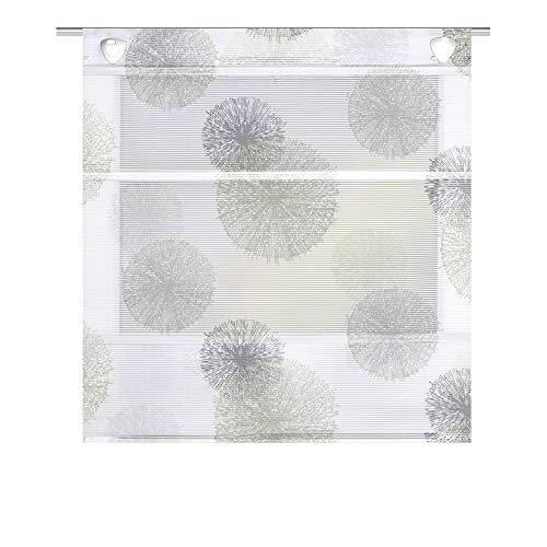 Clever-Kauf-24 Magnetrollo Rawlins Stein inkl. Haken | Raffrollo mit Magnetraffung | Gardine ohne Bohren Montage direkt am Fenster (BxH 100x130cm)