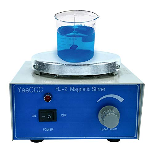 YaeCCC HJ-2 Magnetic Stirrer,Stir Plate,Magnetic Mixer with 2 Stir Bars