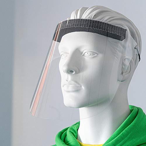 10 Stück Gesichtschutz Visier PET hochtransparent/Gesichtsschutz mit geringem Gewicht von aufkleberdrucker/stempel-fabrik