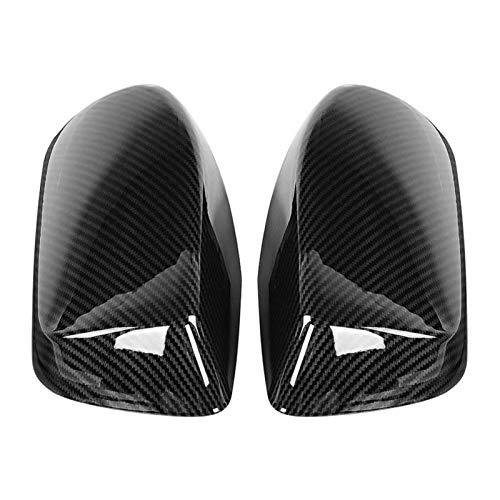 WSNDY Tapas De Retrovisores 2pcs De Fibra De Carbono Espejo Retrovisor Cubierta del Estilo De CW-BW-M12-RPLMT Fit For E60 E61 E63 E64 2003-2008 Car Styling