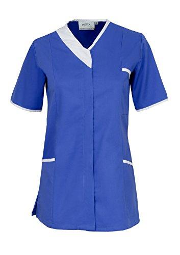 Instex Womens Asymmetrische Tuniek met Contrast Trim, tandarts dierenarts ziekenhuis schoonheidssalon, INS33HB