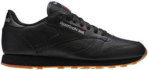 Reebok Men& 039;s Classic Leather Fashion Turnschuhe (42 M EU 9 D(M) US, Us-schwarz Gum)