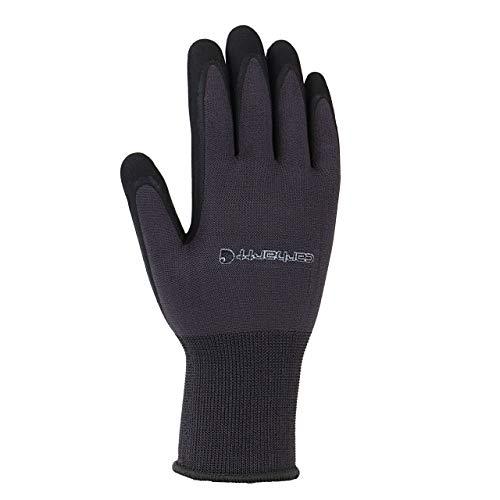 Carhartt Men's All Purpose Micro Foam Nitrile Dipped Glove, Gunmetal, Medium