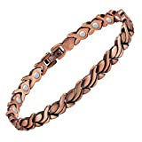 Jeracol Copper Bracelets for Arthritis for Women Copper Magnetic Bracelets for Pain Relief and Carpal Tunnel Goldfish Shape Magnetic Therapy Bracelet with Gift Box with Removal Tool