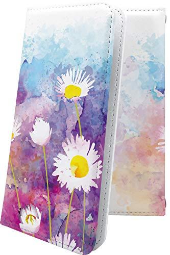 スマートフォンケース・GRANBEAT DP-CMX1(B)・互換 スマートフォンケース・手帳型 花柄 花 フラワー 水彩 カラフル コスモス グランビート オンキョー オンキョウ 女の子 女子 女性 レディース dpcmx1 dp-cmx1 cmx1 デザイン イラスト [9Vc1000371mu]