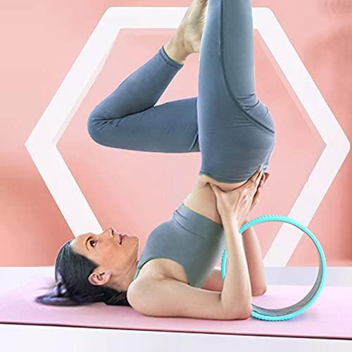 Rueda de Yoga: rueda de rodillo trasera de 12,5 pulgadas para aliviar los dolores de espalda, rueda de yoga más sólida y cómoda para las posturas de yoga y el estiramiento de la columna vertebral.