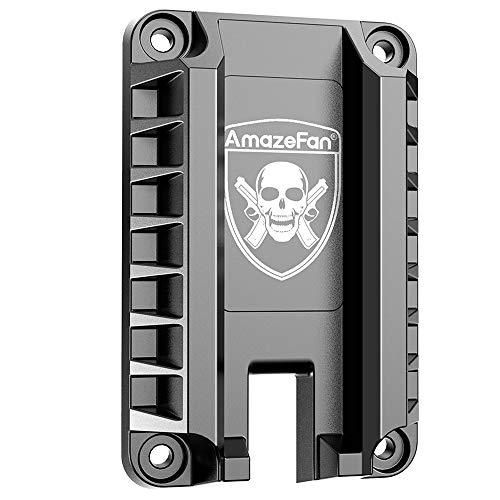 AmazeFan Magnetic Gun Mount & Holster for Vehicle, Home or Office, Handgun Magnet Firearm Accessories (Black 1, 1 Pack)