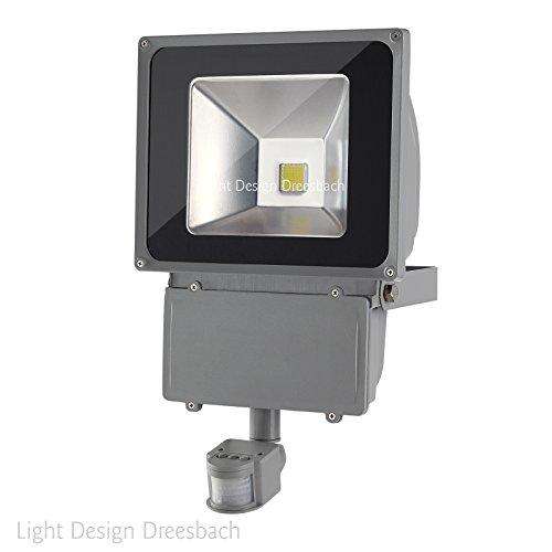 10er Set LED Fluter Strahler Scheinwerfer Flutlicht mit Bewegungsmelder Außen 100Watt 9500Lumen kaltweiß 6000Kelvin IP65