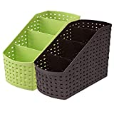 Kuber Industries Compact 2 Piece Plastic Storage Basket, Multi color (CTKTC5268)