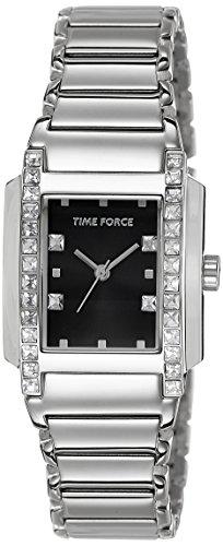 TIME FORCE Reloj analogico para Mujer de Cuarzo con Correa en Acero Inoxidable TF-3394L01M
