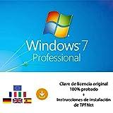 MS Windows 7 Pro 32 Bits y 64 Bits - Clave de Licencia Original por Correo Postal y Electrónico + Instrucciones de TPFNet® - Envío Máximo 60min