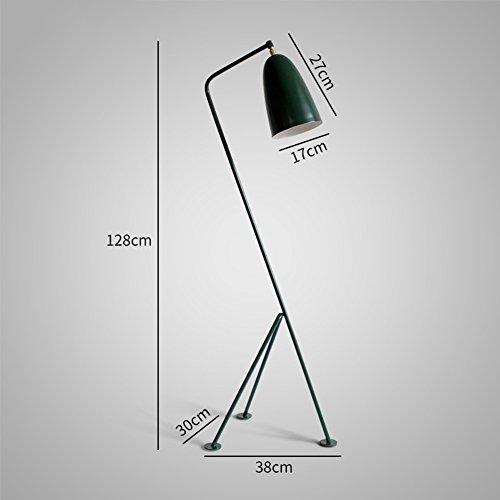 WYYY Lampadaire Vertical Parloir Simple LED Cinq Couleurs En Option Fer (Couleur : Vert foncé)