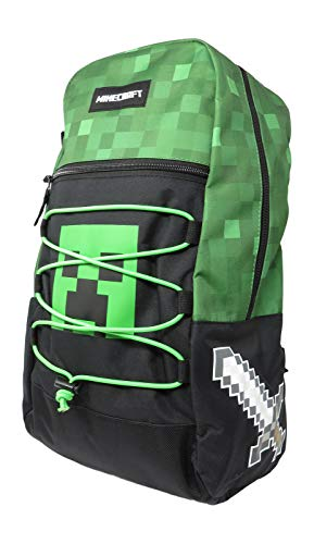 Minecraft Creeper Allover Print Backpack Bookbag
