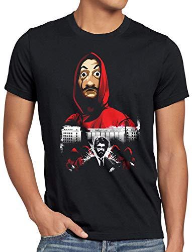 style3 Bella Ciao Herren T-Shirt einbruch fernsehserie, Größe:XL