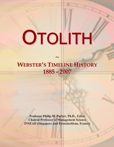 Otolith: Webster's Timeline History, 1885 - 2007