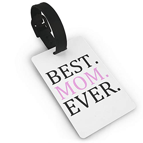 KLQ Best Mom Ever Luggage Tag Travel Cases Checked Baggage Suitcase Pack Bag Labels Accessories Privacy Cover ID Tags Business Card Holder